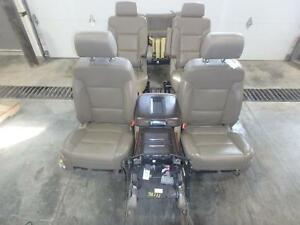 2015 Chevrolet Suburban 1500 Front Rear Seat Console Tan Leather