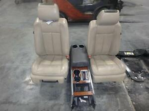07 14 Ford Expedition Front Seat Console Dvd Player Tan Leather Power