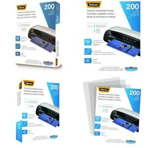 Fellowes Thermal Laminating Pouches Letter Size 9 X 11 5 inches 3 Mil 200