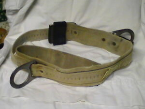 Vintage Utility Pole Lineman Climbing Gear Equipment Safety Tool Belt