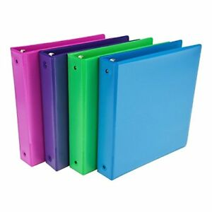 Samsill 4 pack 1 5 Assorted Colors Office School 3 ring Clear View Binder Aci