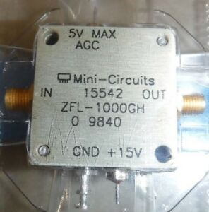 Mini circuits Zfl 1000gh Coaxial Amplifier 10 1200mhz 50 5 15v