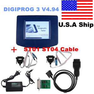 Us Ship Main Unit Of Digiprog 3 V4 94 Auto Programmer With Obd2 St01 St04 Cable
