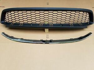 Fits 2013 2015 Accord 2dr Coupe Front Bumper Lower Grille W Chrome Molding 2pcs