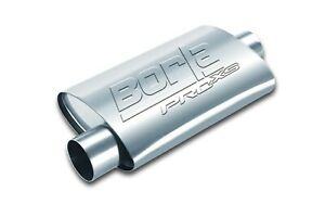 Borla 40659 Universal 19 Proxs Stainless Steel Oval 2 5 Center offset Muffler