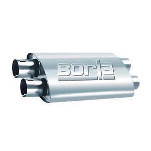 Borla 400286 Universal Stainless Steel 24 Proxs Oval 2 5 Muffler Dual In out