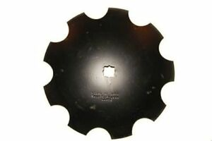 16 Notched Disc Harrow Blade Scalloped Heavy Duty 1 Or 1 1 8 Sq Stamped Hole