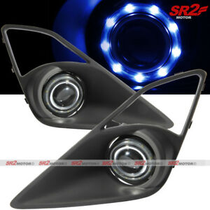 Smdx9 Blue Led Drl Halo Angel Eyes Projector Fog Lights Lamps Kit Fits Frs Brz