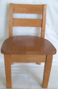 Antique Vintage Childs Solid Oak School Chair Sweet 2
