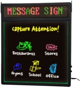 Royal Sovereign Rewritable Sign With Scrolling Message New