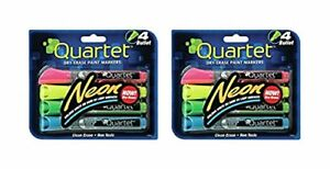 Quartet Glo write Neon Dry erase Markers Bullet Tip Assorted Colors