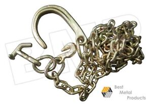 Tow Chain With J Hook Short Shank Tj Grab Hook 5 16 10ft G70 Tow Tractor Car 136