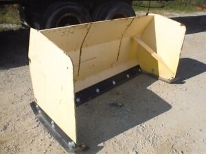 Used 68 Snow Pusher Box Plow Skid Steer Loader Attachment W Bolt On Edge