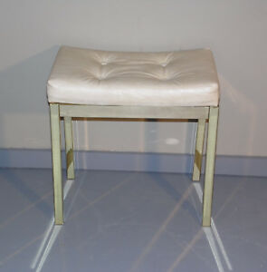 Vintage Mid Century Modern Koch Originals Vanity Stool Ottoman Hollywood Regency