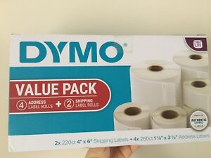 Dymo Labelwriter Value Pack Of White Address 4 Ct And Shipping Labels 2 Ct