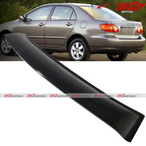Rear Roof Window Shade Guard Visor Spoiler Wing Fits 2003 2008 Toyota Corolla