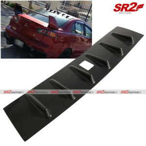 Rear Roof Shark Fin Mr Vortex Black Spoiler Wing Fits 08 16 Mitsubishi Lancer