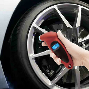 Digital Tire Pressure Gauge Meter Tester Backlight 100 Psi Car Bike Motorcycle