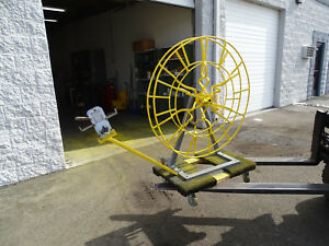 Bell System B Cable Reel Spooler W Olympic 1430 Wire And Rope Measurer