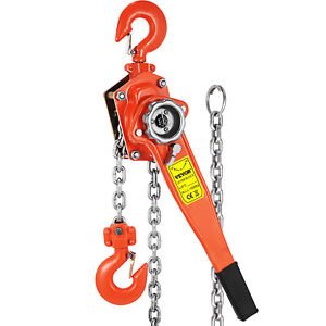 1 5t Lever Block 5ft Chain Hoist Puller Lifter Safety Latches Comealong Ratchet