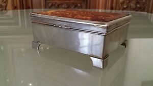 Vintage Silver Plated Jewellery Trinket Cigarette Cigar Box