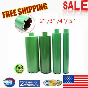 2 3 4 5 Combo Wet Diamond Core Drill Bit Fit Concrete Premium Green