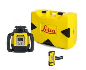 Rotating Laser Leica Rugby 680 With Rod Eye 120 And Alkaline Package 6011160