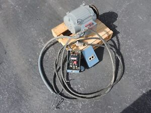 7 5 Hp Electric Motor Motor Starter Power Cord And Plug test Set Take out