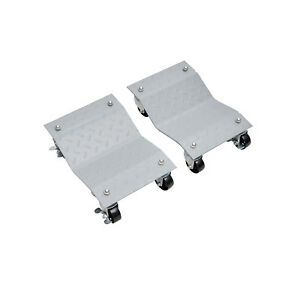Set Of 2 Wheel Dolly Vehicle Car Wheels Positioning Moving Skate Auto Repair