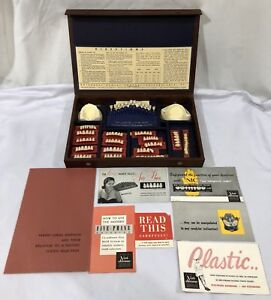 Vintage Universal Dental Co 5 phase Anteriors Denture Arrangements Kit