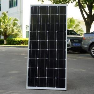 2018 100w Monocrystalline Solar Panel For 12v Battery Rv Boat Car Home Solar