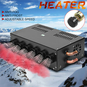 12v 6 Holes Car Underdash Compact Heater Heat Defroster Demister speed Switch