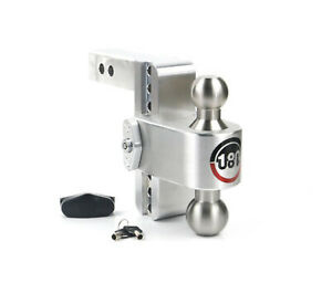 Weigh Safe Ltb4 2 Adjustable 4 180 Drop Hitch Ball Mount W 2 Shaft