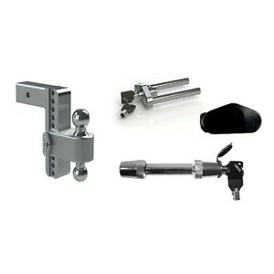 Weigh Safe 8 180 Drop Hitch Ball Mount W 2 5 Shaft Class V Hitch Lock
