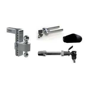 Weigh Safe 8 180 Drop Hitch Ball Mount W 2 Shaft Class V Hitch Lock