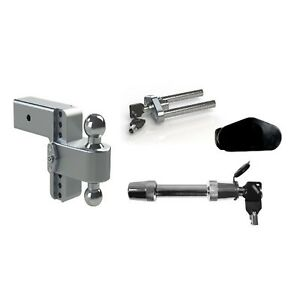 Weigh Safe 6 180 Drop Hitch Ball Mount W 3 Shaft Class V Hitch Lock
