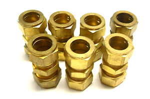 New Lot Of 7 Brass 3 4 Coupling Fitting Brass