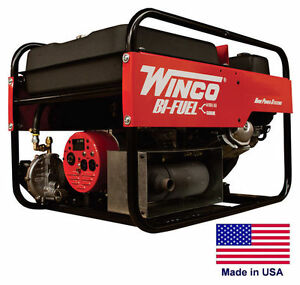Portable Generator Bi fuel Natural Gas Gasoline Fired 6 Kw 120 240v