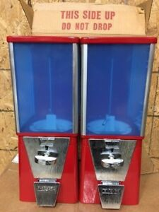 2 New Oak Vista Gumball Candy Nut Toy Charm Bulk Vending Machines Rare With Box