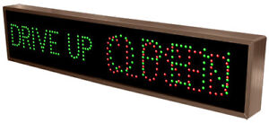 Led Drive Up Open closed Sign New Never Installed