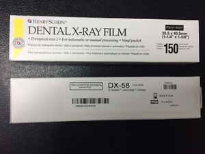 Dental X ray Film Dx 58 D speed 150 Each Box 750 Total Equivalent To Kodak Df 58