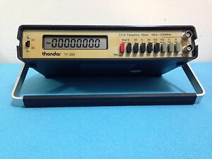 Thandar Tf 200 Lcd Frequency Meter 10hz 200mhz