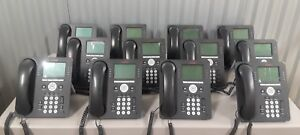 Lot Of 16 Avaya 9608 Voip Phones With Handsets And Stands