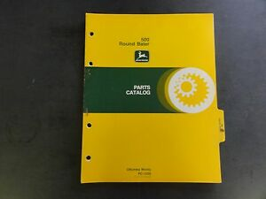 John Deere 500 Round Baler Parts Catalog Pc 1529