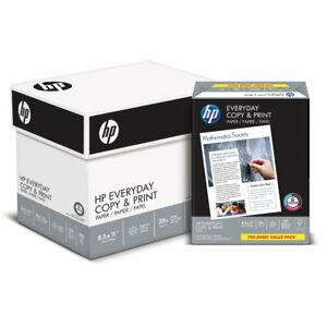 Hp Printer Paper Copy And Print 20lb 8 5 X 11 Letter 92 Bright 3 000 Shee
