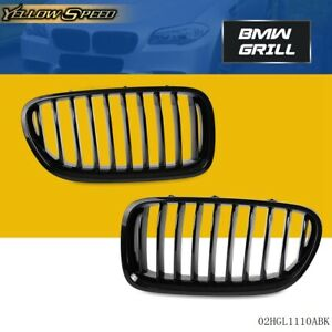 Gloss Black For Bmw 5 series F18 528i 535i 2013 2016 Front Kidney Grille Grill