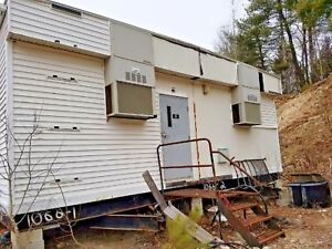 Construction office house mobile Bussiness Trailer Double Wide Electricity