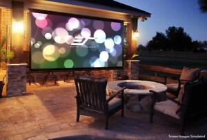 New Elite Screens Diyw116h3 Diy Wall 3 Series 116 16 9 Outdoor Projector Screen