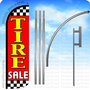 Tire Sale Windless Swooper Flag Kit Feather Banner Sign 15 Checker Rq