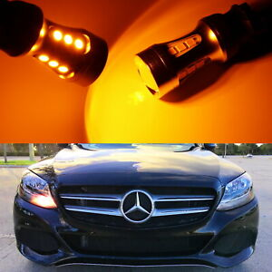 Amber Canbus Led Turn Signal Lights For 2015 Up Mercedes C Glc Halogen Headlight